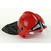 Detská hasičská prilba MSA Gallet červená (veliteľská)