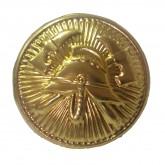 Gombík k slávnostnej uniforme zlatý 15 mm