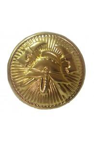 Napichovací gombík k slávnostnej uniforme zlatý 15 mm