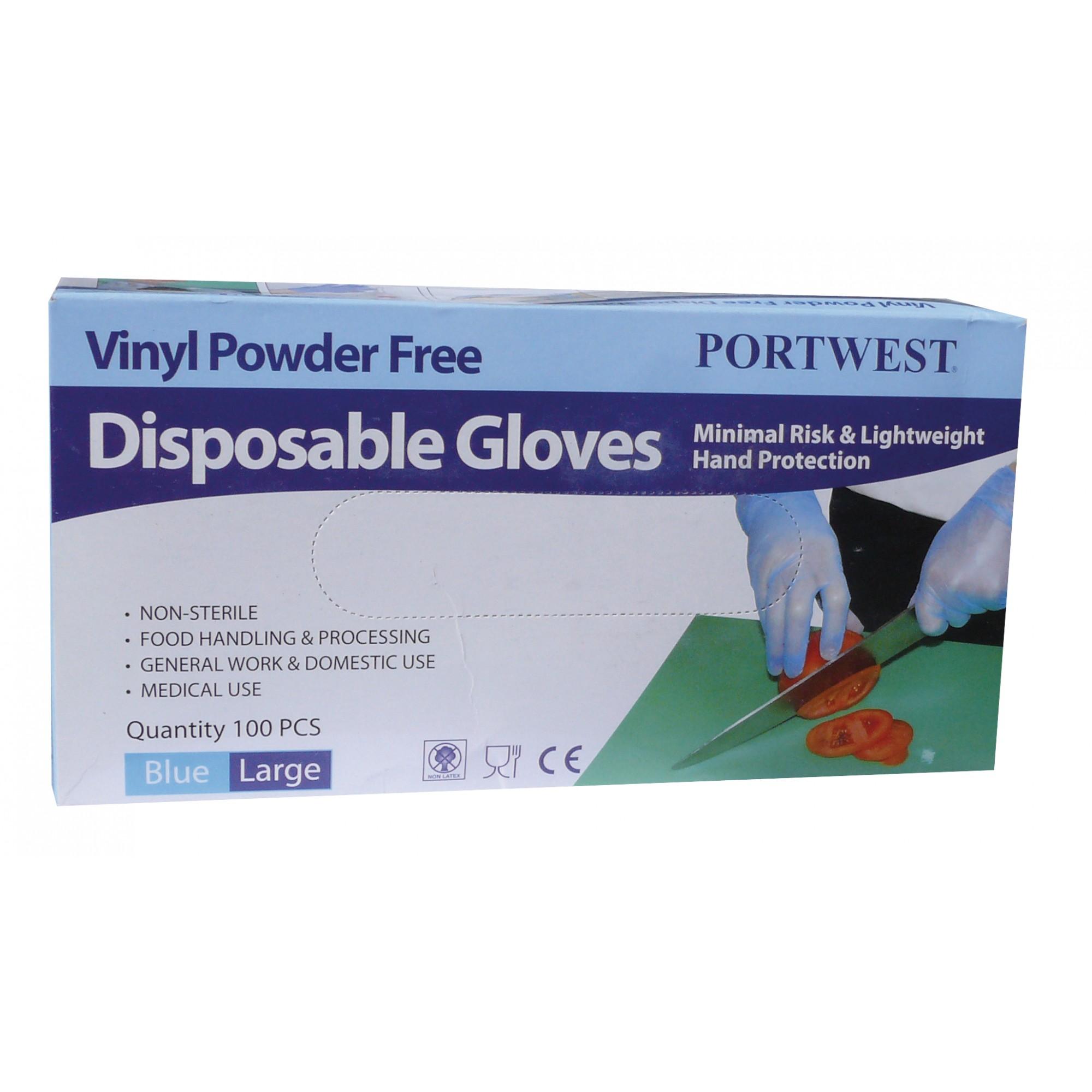 65be2fc2d77 PORTWEST A905 - Jednorázové vinylové rukavice