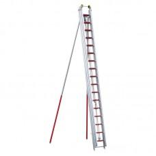 Hasičský výsuvný rebrík DIN EN 1147, 3-dielny/14m