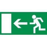 Označenie - Únikový východ vľavo, fotoluminiscenčné